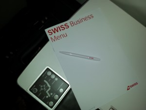 Swiss Business Class Breakfast Menu